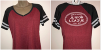 Gray & Red Short Sleeve V-Neck Shirt - Select Size $25.00